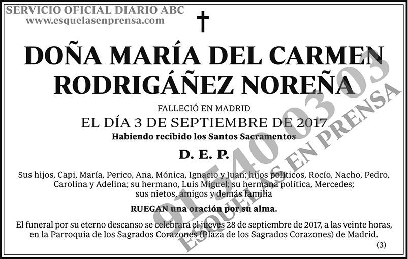 María del Carmen Rodrigáñez Noreña